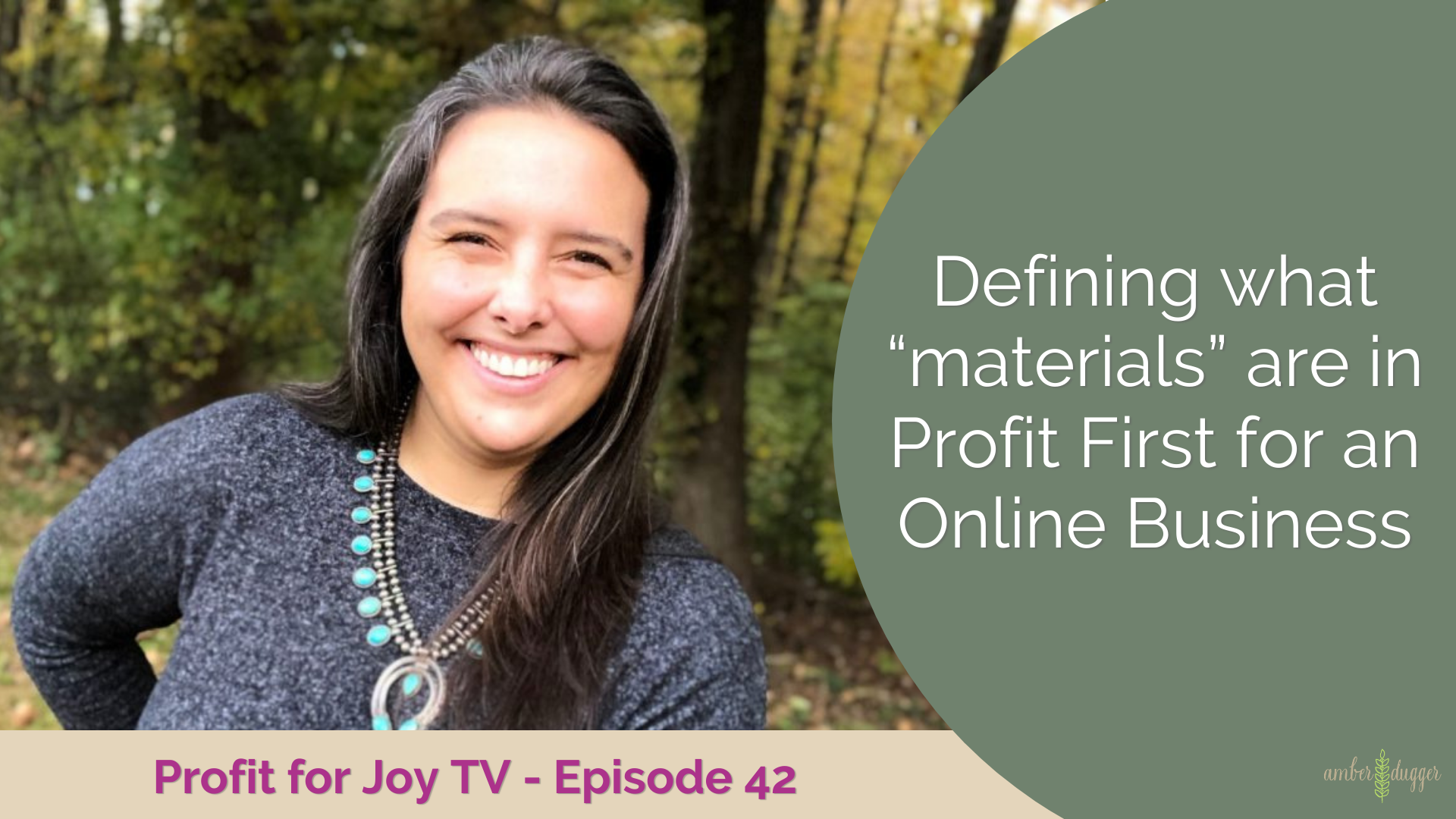 """Defining what """"materials"""" are in Profit First for an Online Business"""