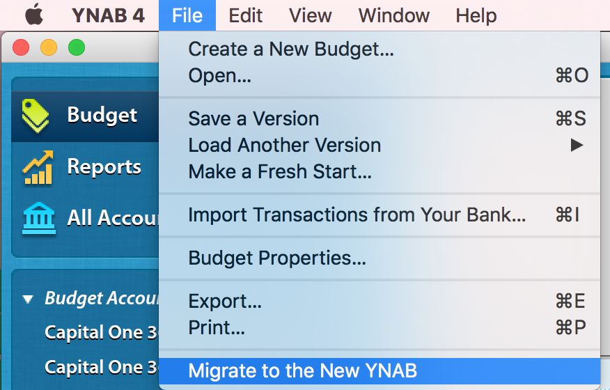 Migrating from YNAB 4 to the new YNAB - Amber Dugger