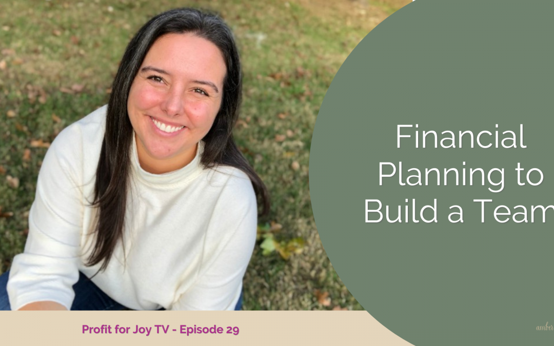 Financial Planning to Build a Team