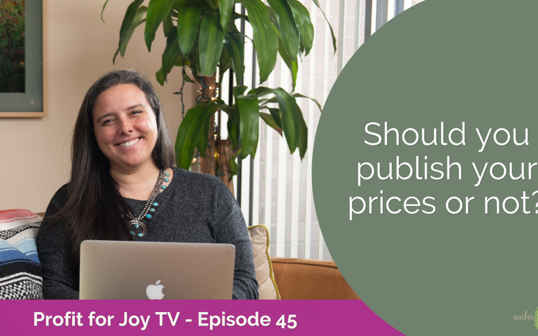 Publish Prices or not