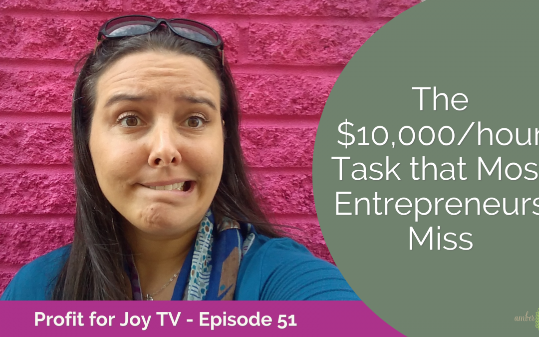 The $10,000/hour Task that Most Entrepreneurs Miss