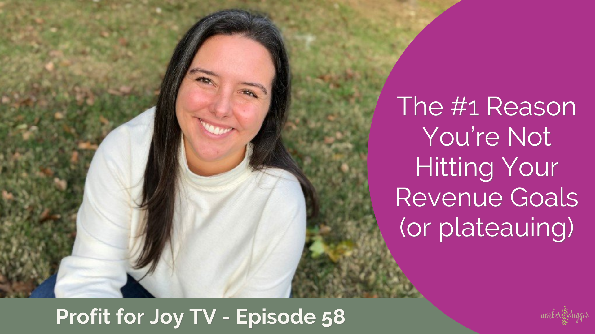 The #1 Reason You're Not Hitting Your Revenue Goals (or plateauing)